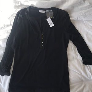 New York & Company Tunic Black Small